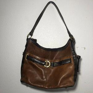 Tignanello handbag Genuine Leather Brown Vintage